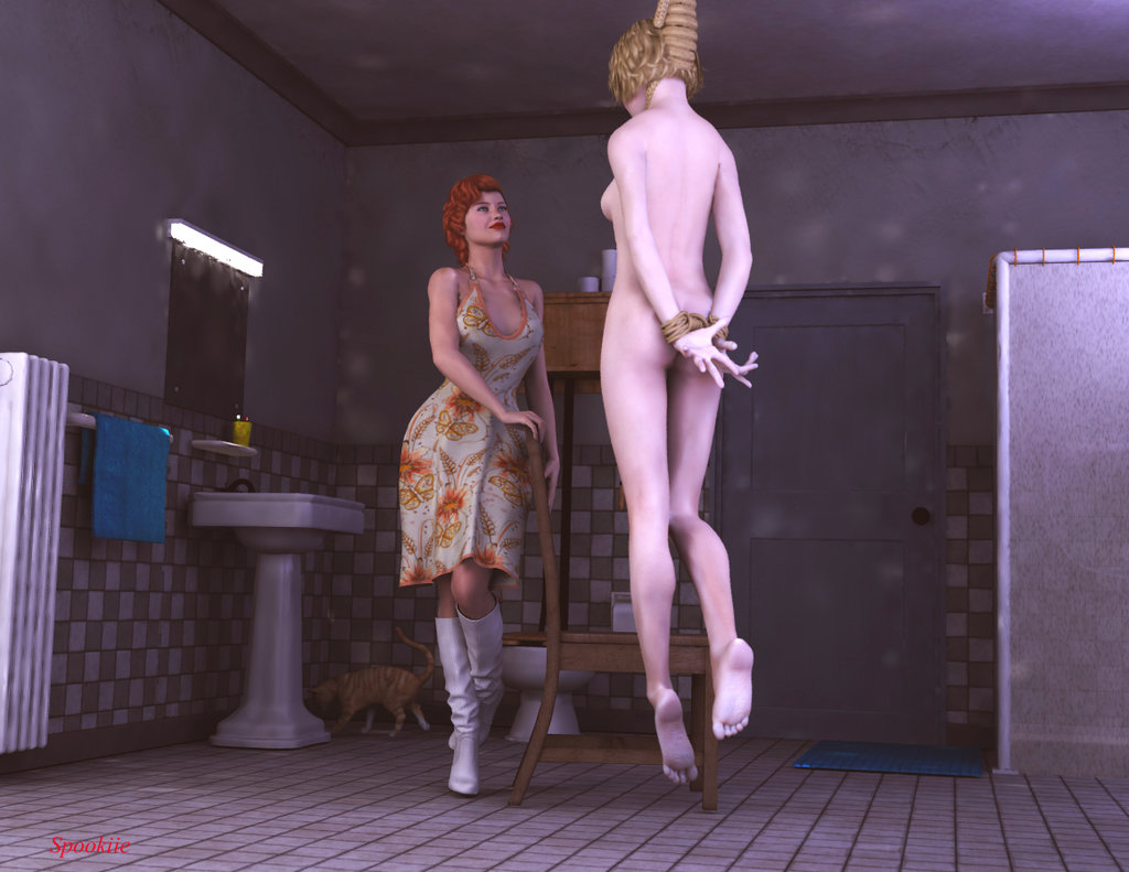 Erotic hanging execution